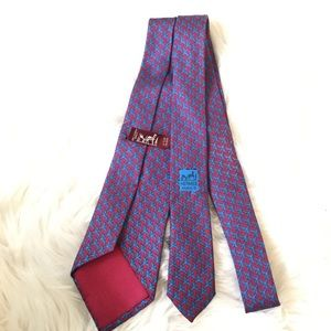 Hermès Authentic Silk Tie Blue Bird